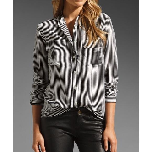 fc1f5dfd Equipment Tops - Equipment Femme 100% silk striped daphne shirt